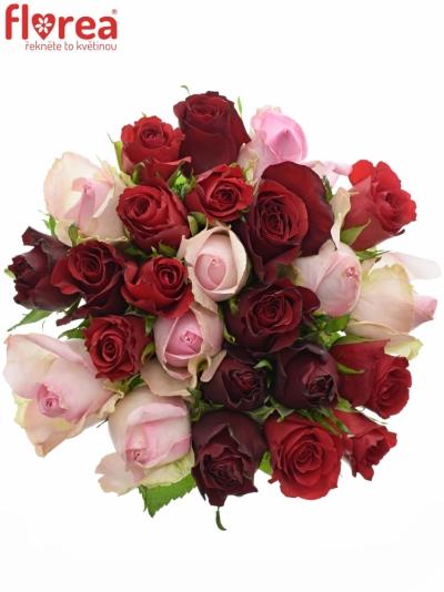 Kytice 25 míchaných růží DEVRIA 40cm