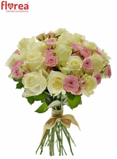 Kytice 25 míchaných růží AVELENNA 40cm