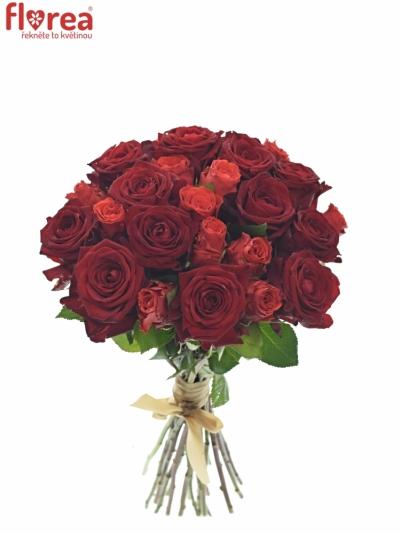 Kytice 25 míchaných růží BERENIKE 40cm