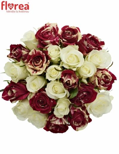 Kytice 25 míchaných růží HARLESPEN