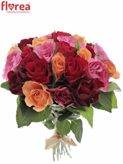 Kytice 25 míchaných růží KATRIEL 40cm