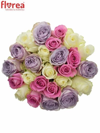 Kytice 25 míchaných růží LIGHT LORRIESs 40cm