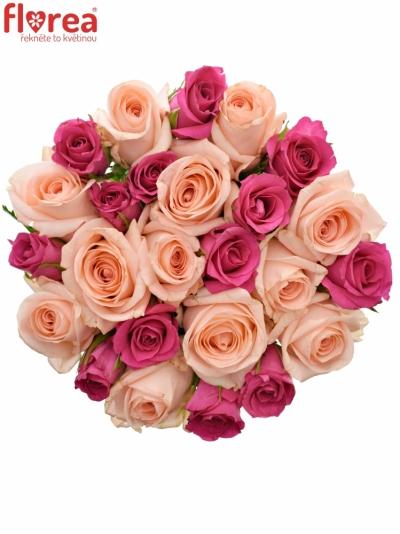 Kytice 25 míchaných růží PINACHE 40cm