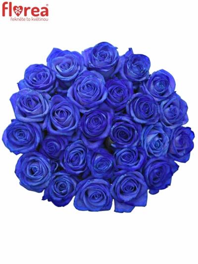 Kytice 25 modrých růží BLUE VENDELA 70cm