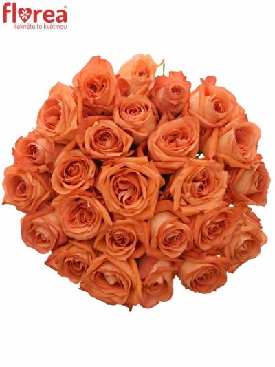 Kytice 25 oranžových růží COPACABANA 50cm