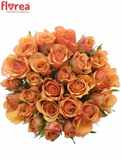 Kytice 25 oranžových růží JULIA 40cm