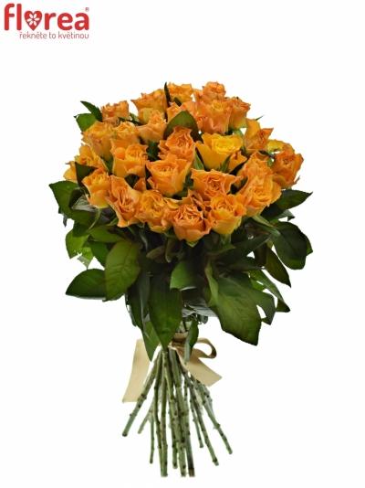 Kytice 25 oranžových růží MARIE-CLAIRE! 60cm