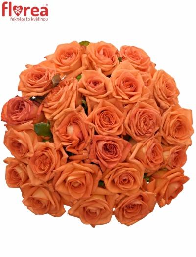 Kytice 25 oranžových růží NARANGA