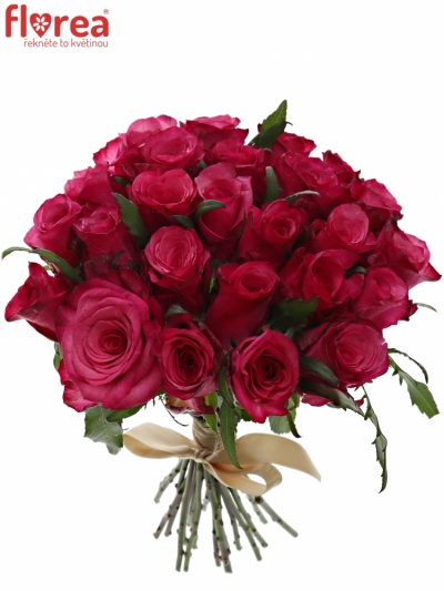 Kytice 25 růžových růží NATURES WILD