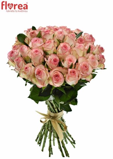 Kytice 35 bílorůžových růží JUMILIA 50cm