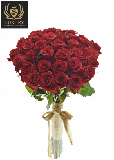 Kytice 35 luxusních růží RED EAGLE 60cm