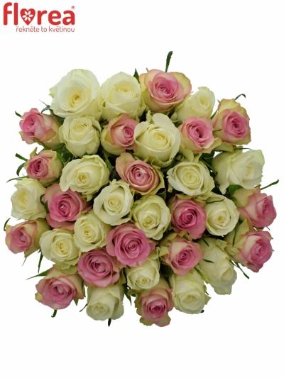 Kytice 35 míchaných růží AGAPA 50cm