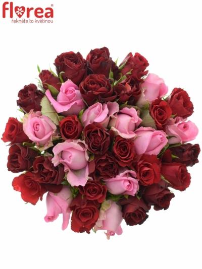 Kytice 35 míchaných růží DEVANIE 40cm