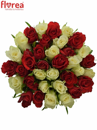 Kytice 35 míchaných růží AGATHA 50cm