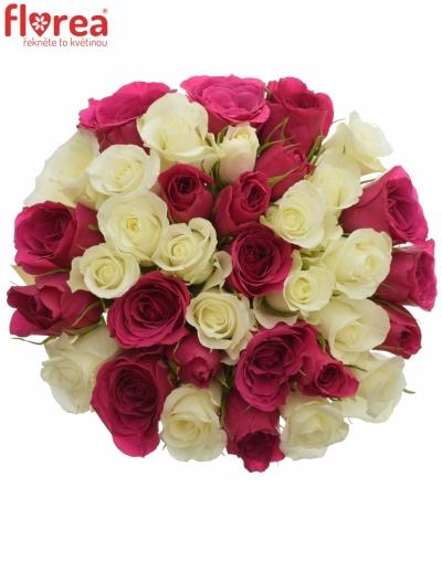 Kytice 35 míchaných růží CRONUS 60cm