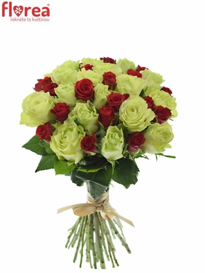 Kytice 35 míchaných růží GRAZYNA 40cm