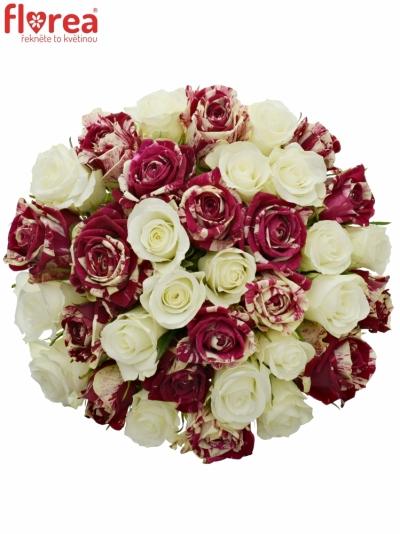 Kytice 35 míchaných růží HARLESPEN