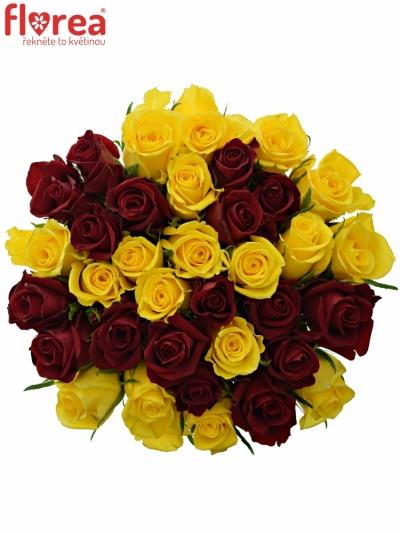 Kytice 35 míchaných růží RED DELTA 50cm