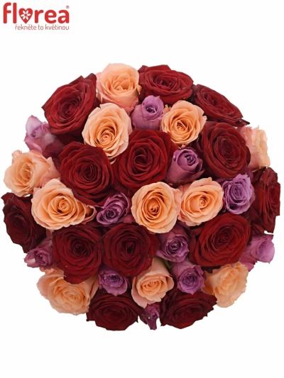 Kytice 35 míchaných růží RED LADY ORLEA 50cm