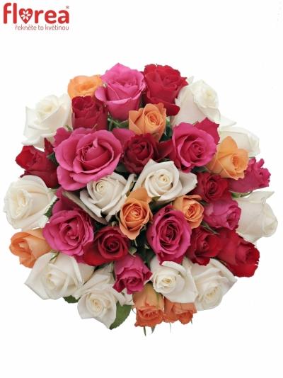Kytice 35 míchaných růží SEVASTIANOS 40cm