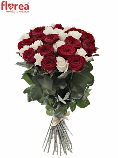 Kytice 35 míchaných růží TAMARA 90cm