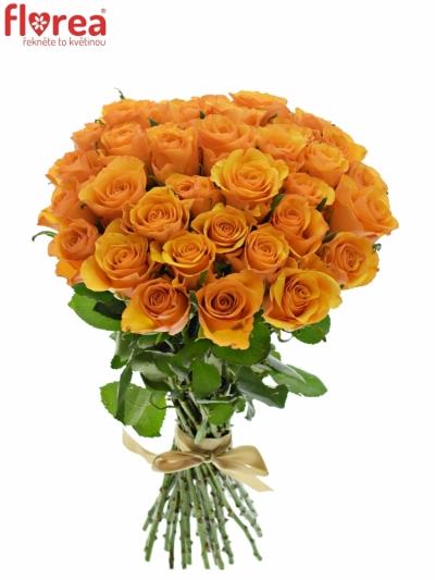 Kytice 35 oranžových růží TYCOON