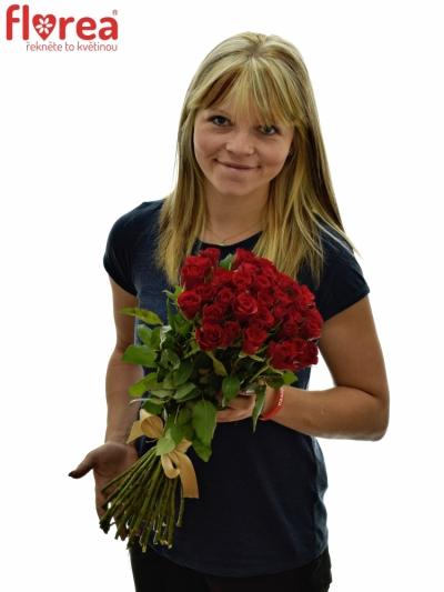 Kytice 35 růží RED CALYPSO v délce 50cm