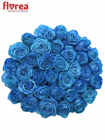 Kytice 35 světle modrých růží LIGHT BLUE VENDELA 60cm