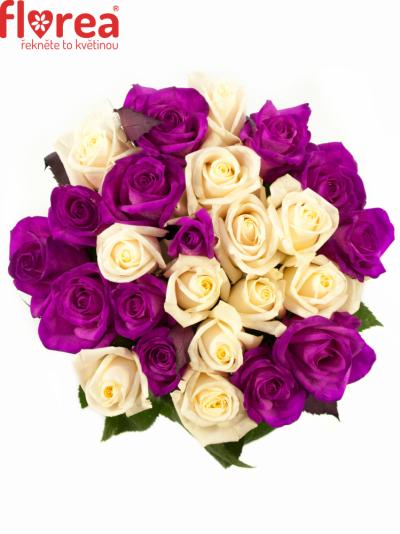 Kytice 25 barvených růží ATLANTA