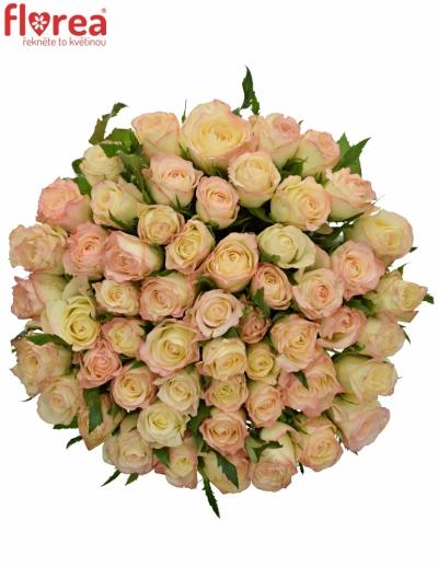 Kytice 55 krémových růží MARILYN 50cm