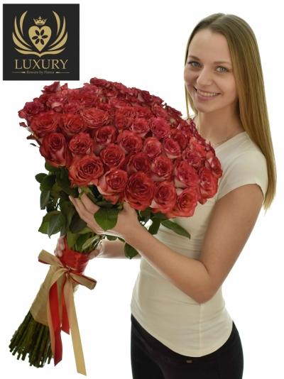 Kytice 55 luxusních růží DIABOLO