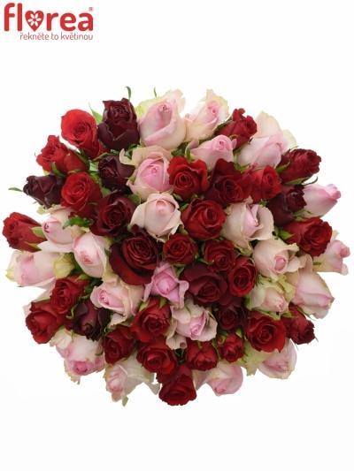 Kytice 55 míchaných růží DEVRIA 40cm