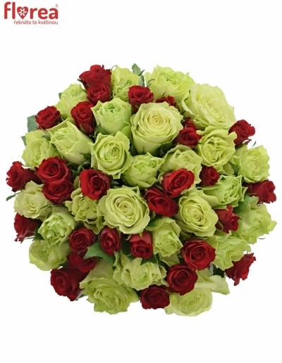 Kytice 55 míchaných růží GRAZYNA 40cm
