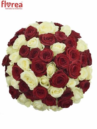 Kytice 55 míchaných růží THINA