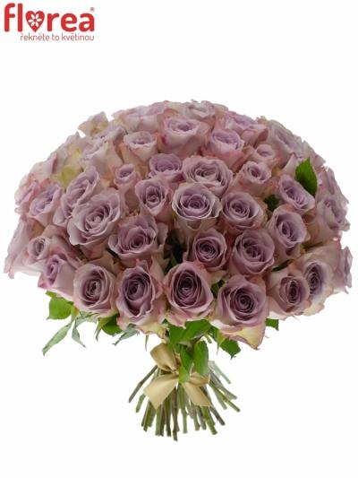 Kytice 55 modrofialových růží MEMORY LANE 40cm