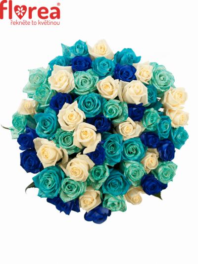 Kytice 55 modrých růží ALDARA