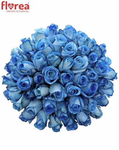 Kytice 55 modrých růží LIGHT BLUE SNOWSTORM