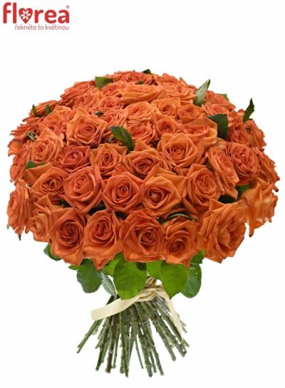 Kytice 55 oranžových růží NARANGA