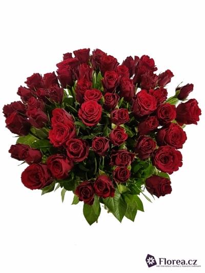 Kytice 55 růží PRESTIGE 50cm