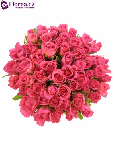 Kytice 55 růžových růží WILD CALYPSO 50cm