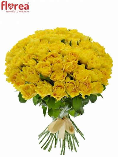 Kytice 55 žlutých růží VIVA