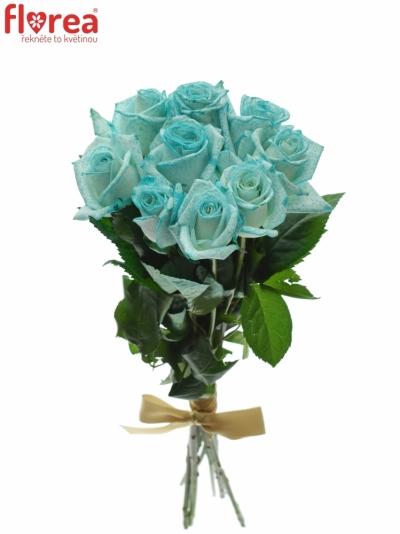 Kytice 9 ledově modrých růží ICE BLUE VENDELA