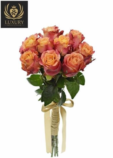 Kytice 9 luxusních růží 3D 50cm