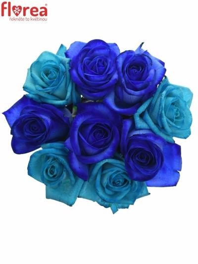 Kytice 9 míchaná BLUE ADRIANA 70cm
