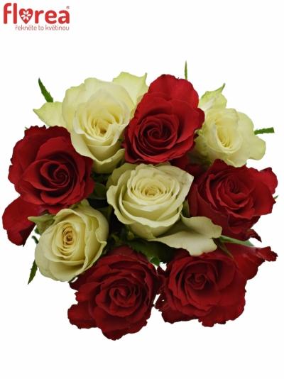 Kytice 9 míchaných růží AGATHA 50cm