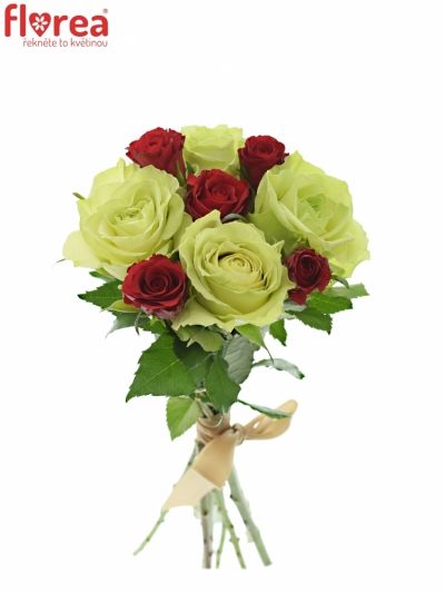 Kytice 9 míchaných růží GRAZYNA 35cm