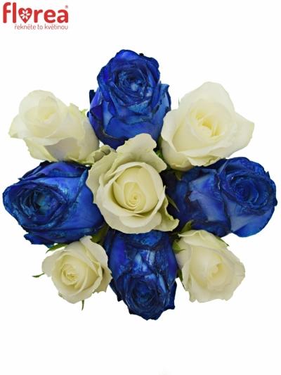 Kytice 9 míchaných růží MARELLA