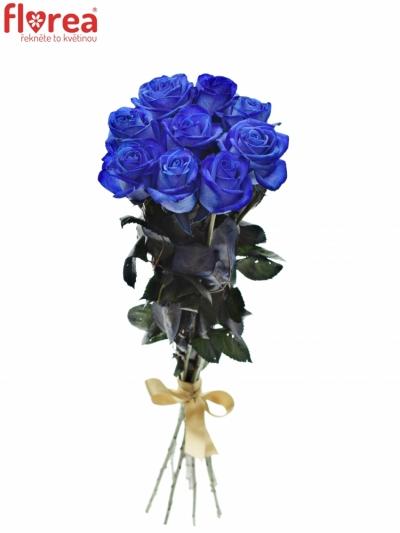 Kytice 9 modrých růží BLUE VENDELA