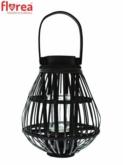 Lampa černá WOOD BLACK 30cm