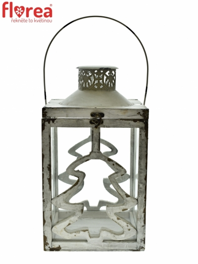 LANTERN WOOD GREY 28x15x15cm